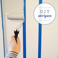 #DIY striped wall tutorial #countryhouse #emmyandmouse