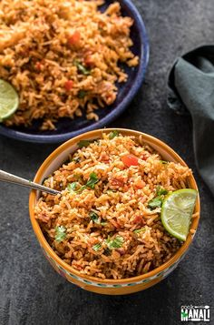 Instant Pot Mexican Rice- make restaurant style Mexican Rice in your Instant Pot Serve it as a side dish or along with tacos burritos wraps Vegan and gluten-free instantpot mexican mexicanrice vegan glutenfree Rice Recipes For Dinner, Mexican Food Recipes, Vegan Recipes, Ethnic Recipes, Free Recipes, Mexican Rice Restaurant Style, Vegan Kitchen, Caribbean Recipes, Food Staples