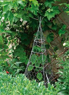 Garden Diy Trellis Chicken Wire 24 New Ideas - Alles über den Garten Chicken Wire Art, Chicken Wire Crafts, Garden Deco, Veg Garden, Chicken Garden, Garden Crafts, Garden Projects, Wire Trellis, Garden Trellis