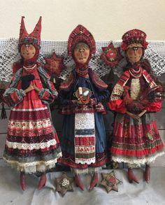 Раз в крещенский вечерок Arts And Crafts, Paper Crafts, Handmade Art, Art Dolls, Collection, You Are Special, Dolls, Canvas, Fabrics