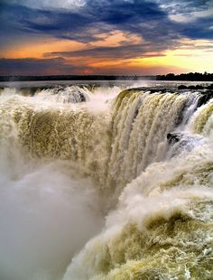 Devil's Throat, at Iguazu Falls, on the border of Brazilian State Paraná and Argentine Province Misiones. The falls are shared by the Iguazú NP (Argentina) and Iguaçu NP (Brazil), both UNESCO World Heritage Sites. Can be reached from Puerto Iguazú in Argentina and Foz do Iguaçu in Brazil, as well as from Ciudad del Este, Paraguay.