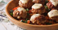 Baked Chicken Parmesan Meatballs – 12 Tomatoes - Recipes that need to be tried - Sandwich Recipes Chicken Parmesan Meatballs, Baked Chicken, Teriyaki Meatballs, Chicken Recipes, Chicken With Italian Seasoning, Italian Chicken, 12 Tomatoes Recipes, Sauce Marinara, Recipes