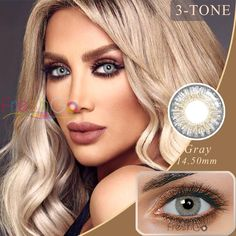 Sterling Gray Color Contacts by Freshgo  #hairideas #Shopping #onlineshopping