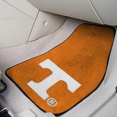 NCAA Tennessee Volunteers Tennessee Orange 2-Piece Carpet Car Mat Set by Fanmats. Brand new.