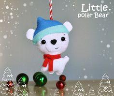 Felt Christmas Ornaments Polar Bear cute Bear door MyMagicFelt