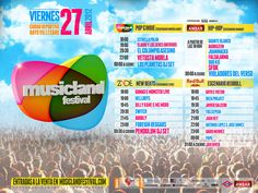 Musicland Festival Madrid cartel 27 abril 2012