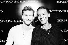 """Sebastian lund and Liya Kebede backstage at Ermanno Scervino """"A Tribute to Florence"""" #ErmannoScervino #ScervinoLive"""