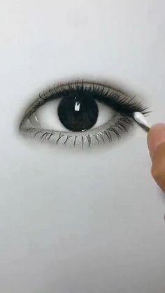Art Drawings Beautiful, Art Drawings Sketches Simple, Pencil Art Drawings, Easy Drawings, Realistic Drawings Of Eyes, Sketches Of Eyes, Drawing With Pencil, Realistic Eye Sketch, Eye Pencil Sketch
