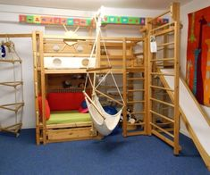 Kids bunk bed with slide cool kids rooms furniture slide ladder wooden stairs loft bed for Modern Bunk Beds, Cool Bunk Beds, Kids Bunk Beds, Bunk Bed With Slide, Bunk Beds With Stairs, Bed Slide, Elevated Bed, Cool Kids Rooms, Kids Room Furniture