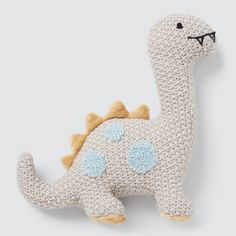 Dino Rattle Seed Heritage, Tummy Time, Baby Toys, Dinosaur Stuffed Animal, Plush, Entertaining, Fabric, Crafts, Animals