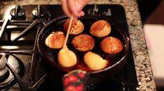 How To Use an Aebleskiver Pan the correct way