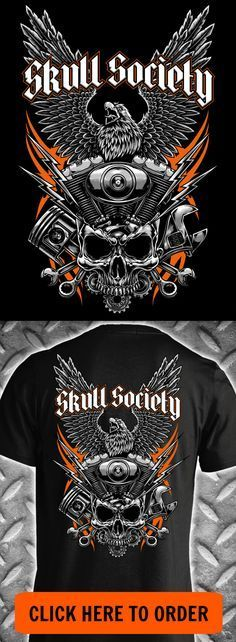 Iron Eagle Motorcycle T-shirt - Available in short sleeve, long sleeve, hoodie & more! ORDER HERE: http://skullsociety.com/products/iron-eagle?variant=16500470981&utm_source=pinterest&utm_medium=skull_041316_181_longpin&utm_campaign=041316