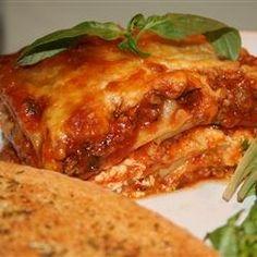 recipe to make Lasagna