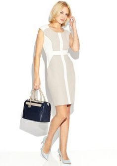 On ideeli: SANDRA DARREN Scoop Neck Cap Sleeve Panel Dress