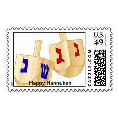 Wooden Hanukkah Dreidels Stamps Wooden dreidel design on postage stamps...read more