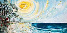 """72""""x36"""" - Acrylic on Panel - Coastal - Artist, Justin Gaffrey"""