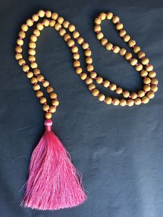Available online: Our handmade BALI SILK TASSEL NECKLACE (Colour: Rose)