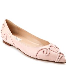 """Valentino """"Arabesque"""" Leather Pointy-Toe Flat is on Rue. Shop it now."""