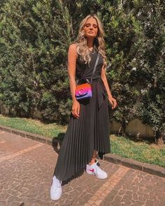 O mix and match perfeito de cores! Tumblr Outfits, Girly Outfits, Modest Outfits, Fashion Outfits, Womens Fashion, Trends, Summer Looks, Spring Outfits, Summer Outfit