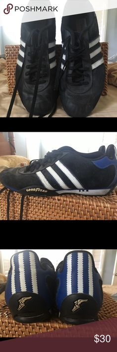 new concept 0044b cf0a6 Adidas racer style sneakers Mens adidas Adi racer sneaker. Vintage style.  Black, blue