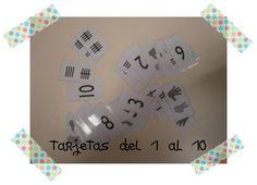 LA CLASE DE MIREN: mis experiencias en el aula: JUEGOS DE ASAMBLEA: tarjetas del 1 al 10