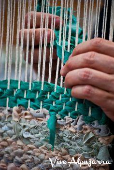 Detalle del trabajo textil. Vive Alpujarra