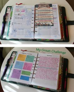 My Great Challenge: A5 Planner setup and supplies - 2014