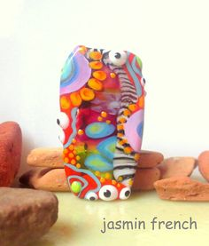 jasmin french ' life inside out ' lampwork focal by jasminfrench $75