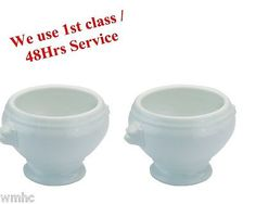 2x #lionhead soup bowl white ceramic bowl #ideal for catering #industry party gif,  View more on the LINK: http://www.zeppy.io/product/gb/2/221967055691/