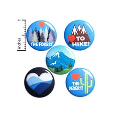 Hiking Pin Gift Set Pins for Backpack Set of 5 Buttons or | Etsy Locker Magnets, Funny Buttons, Work Jokes, Work Gifts, Cute Jackets, Lapel Pins, Little Gifts, Cute Gifts, Stocking Stuffers