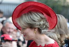 Queen Mathilde of Belgium attend the Te Deum at the Saint Gudule and Michel Cathedral on July 21 2018 in Brussel Belgium
