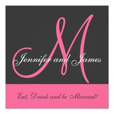 DealsWedding Invitation Monogram Saying Name Pink Greywe are given they also recommend where is the best to buy