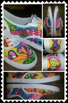 HeARTs hand painted shoes