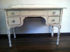 Los Angeles: VINTAGE SHABBY CHIC WHITE DESK $400 - http://furnishlyst.com/listings/265799