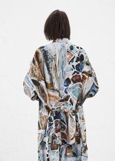 (via Totokaelo - Anntian Brown Print Oversized Shirt)