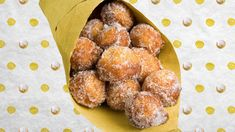 Bask in the comforts of these sweet and puffy bomboloni doughnuts—no frying oil required — The Takeout Frying Oil, Donut Recipes, Air Fryer Recipes, Air Fryer Dinner Recipes, Desert Recipes, Doughnuts, Crockpot Recipes, Love Food, Yummy Treats