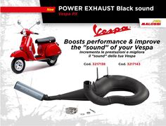 """🆕 on Malossi Store ☆Marmitte POWER EXHAUST Black sound☆ Malossi POWER EXHAUST per Vespa PX a due tempi: incrementa le prestazioni e migliora il """"sound"""" della tua Vespa!  3217138 ➠ http://bit.ly/1Tq4TAY 3217143 ➠ http://bit.ly/1sxrWh1"""