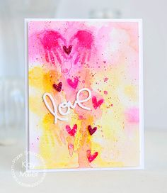 Card by Kay Miller using PS Hip Hands, Love & Cherish dies