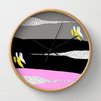 Wall Clock featuring Grace by Gonpart