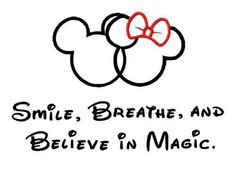 Disney tattoo, I actually kinda like this! do mickey on one side with the words smile breathe,,,on the other side minnie with believe in magic Art Disney, Disney Love, Disney Magic, Disney Mickey, Disney Pixar, Disney Stuff, Disney Crafts, Disney Characters, Disney Nerd