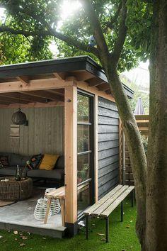Garden room with veranda - gardenroom Outdoor Rooms, Outdoor Gardens, Outdoor Living, Outdoor Decor, Outdoor Chairs, Outdoor Pergola, Backyard Sheds, Backyard Patio, Backyard Storage