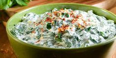 Spinach dip 10 oz. fresh baby spinach (about 6 cups), steamed until wilted 1½ cups nonfat plain Greek yogurt, drained 3 cloves garlic, finely chopped ¼ cup finely chopped green onions 1 Tbsp. fresh lemon juice Sea salt and ground black pepper