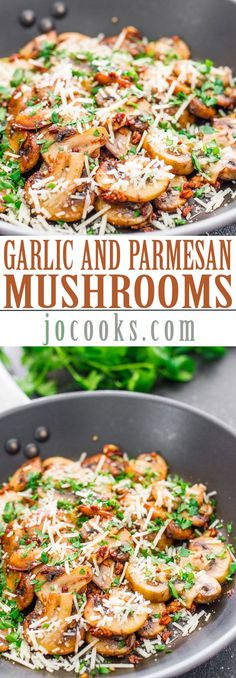 Sauteed Garlic and Parmesan Mushrooms