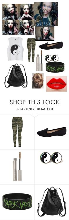 """day with grav3yardgirl"" by leahamber ❤ liked on Polyvore featuring Pieces, Laura Mercier, Monki and Lauren Conrad"
