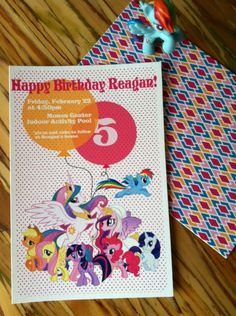My little pony invitation :contact shop owner @ etsy.com/shop/FBRboulevard