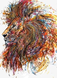 Lion of Judah prophetic art painting. Colorful and Expressive Artworks by Emily Tan Beautiful Artwork, Cool Artwork, Beautiful Lion, Colorful Artwork, Artwork Ideas, Creative Artwork, Beautiful Images, Lion Painting, Prophetic Art