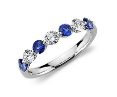 Blue Nile Classic Floating Sapphire and Diamond Ring