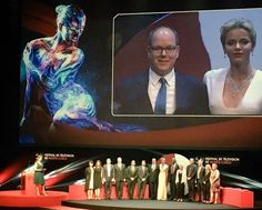 Princess Charlene and Prince Albert at Monte Carlo Television Festival