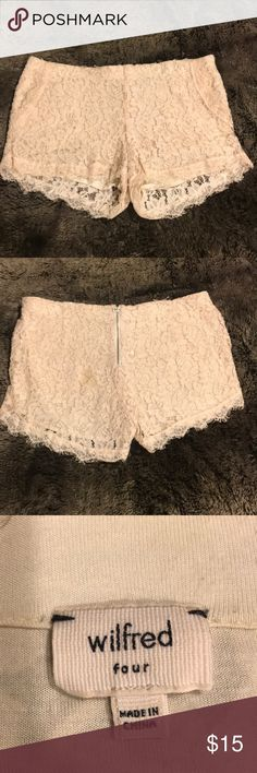 Wilfred Lace Shorts Good condition Babaton  Bundle and save 10% Aritzia Shorts