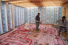 Green Home Photos | ProudGreenHome.com  Radiant heat floor